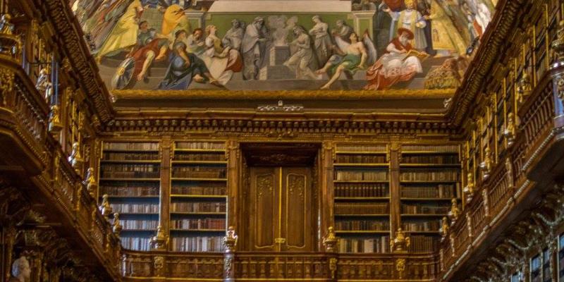Strahov klooster en bibliotheek praag