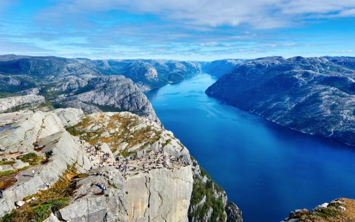 uitzicht Noorwegen preekstoel