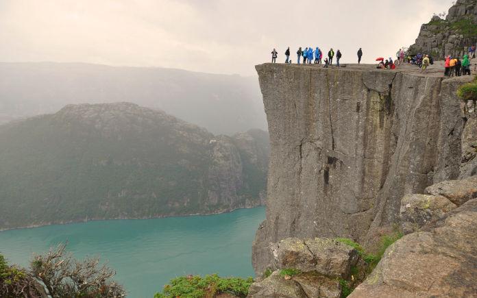 Preikestolen Noorwegen preekstoel