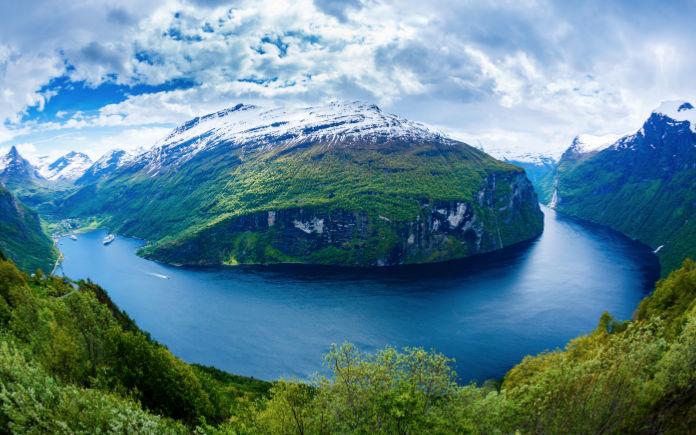 Geirangerfjord noorwegen fjorden