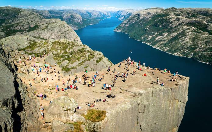 Preikestolen Lysefjord noorwegen