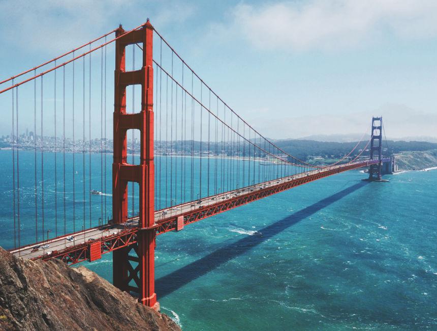 golden gate bridge amerika auto huren